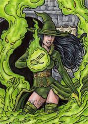 DC: Bombshells 2 - Enchantress by tonyperna