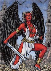 Jezebel - Sketch Card by tonyperna