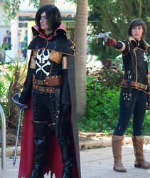 Harlock and Yama by MeiCosplay