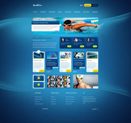 SportyWodne - web design for water sports portal by SycylianBeef