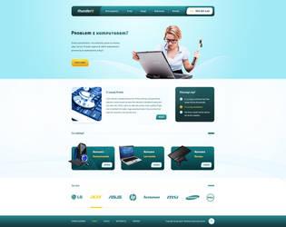 ThunderIT company web design by SycylianBeef