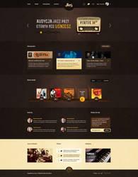 Jazzz.pl Music Portal Web Design by SycylianBeef