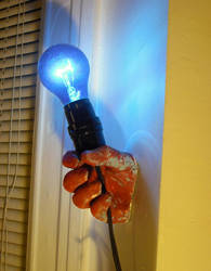Hand Lamp by BulletBuddies