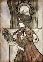 Owl lady  by Elisabethianna