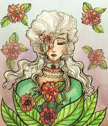 Pink roses by Elisabethianna