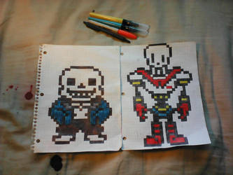 Undertale: Sans and Papyrus by SkyFallHD