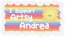 My new Support Stamp by ArtsyAndreaM