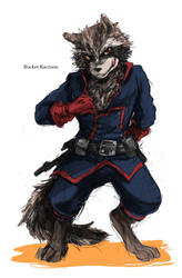 rocket Raccoon2 by ninevsnine
