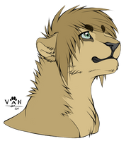 Portrait of Myself. . . If I were a lion, probably by LadyTeaTime