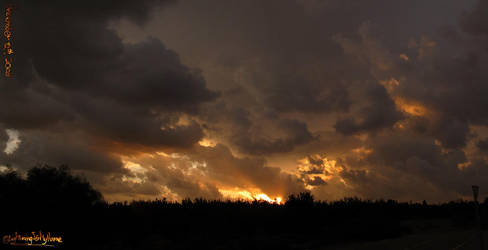 The Bronze Sunset Panorama by LightningIsMyName