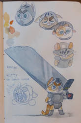 Knight kittypaws II sketches by IvaTheHuman