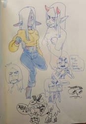 sketchbook page 54 by IvaTheHuman