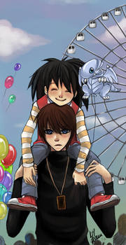 YuGiOh: Seto and Mokuba by iza-chan