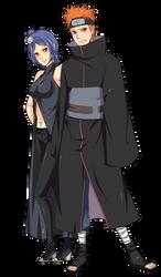 COMMISSION: Konan and Yahiko by iza-chan