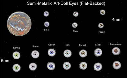 Semi-Metallic Art-Doll eyes by CozmicDreamer