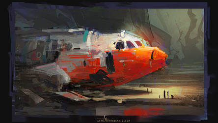 Plane Wreck by crazypalette