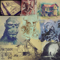 Inktober Week One! by crazypalette