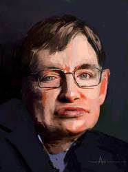 Stephen Hawking by crazypalette