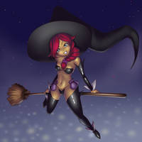 Halloween Witch Thalbina by Otocai
