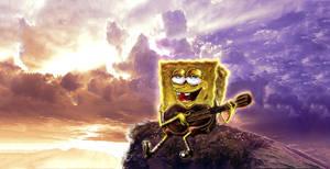 SpongeBob Guitar by yami0815
