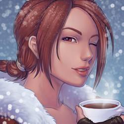 Lara Croft Winter Icon by Horus-Goddess