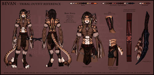 Bevan Tribal Outfit Ref-shaded by Horus-Goddess