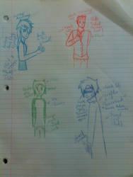 AU Sketch Dump by merakiCreator