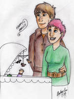 HP DH- Lupin, Tonks and Teddy by clarkey-lou