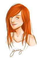 Ginny portrait by clarkey-lou