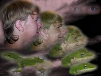 Green Anole Lizard Morph by Lolalot17