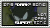 Dark Sonic Stamp by MasterGallade
