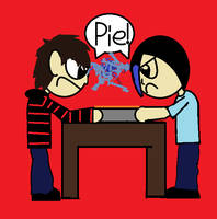 Pie fight by Extermanet