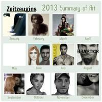 Mein Zeichenjahr 2013 by Zeitzeugin