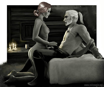 Geralt and Triss by Zeitzeugin
