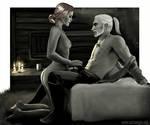 Geralt and Triss by Zeitzeugin