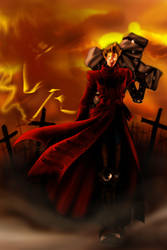 Trigun Crimson Land by kheelan