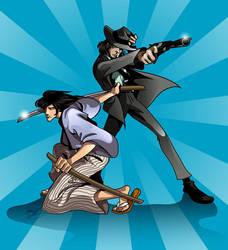 Ishikawa and Daisuke by kheelan