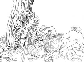 Ruler and Kirin of Kei by kheelan