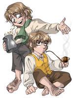 Anime Hobbits by kheelan