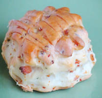 Hungarian Bacon-Ricotta Biscuit by Kitteh-Pawz