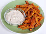 Oven Baked Sweet Potato Fries with Onion Dip by Kitteh-Pawz