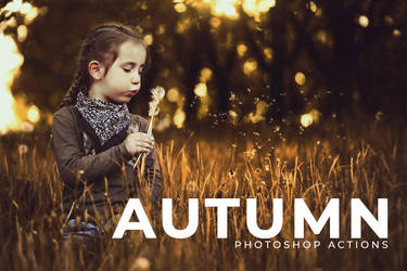 50 Free Autumn Photoshop Actions by symufa