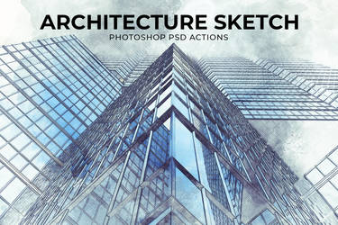 Architecture Sketch PSD Action by symufa