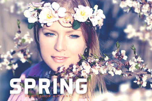 Free Spring Photoshop Actions by symufa