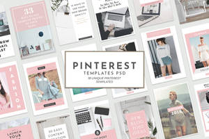 18 Free Unique Pinterest Graphic Templates by symufa