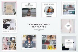 Simple Instagram Post Templates by symufa
