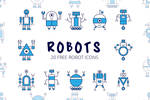 Free Robot Vector Icon Set by symufa