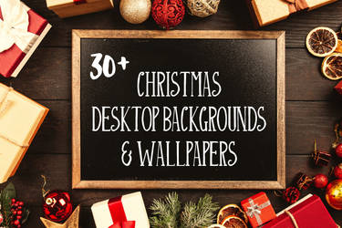 30+ Free Christmas Desktop Backgrounds Wallpaper by symufa