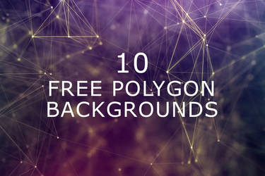 10 Free Polygon Backgrounds by symufa