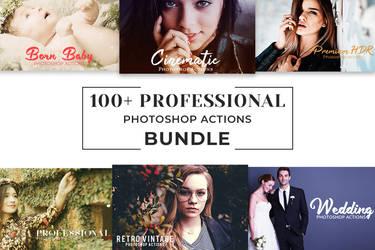 100+ Free Pro Photoshop Actions Bundle by symufa